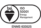 View our BSI ISO50001 Energy Management Certificate