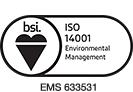 View our BSI ISO14001 Environmental Management Certificate