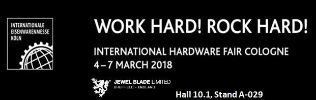 Retail a focus for Jewel Blade as they exhibit at the EISENWARENMESSE - International Hardware Fair Cologne.